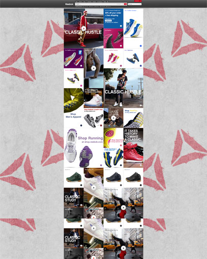 Reebok Amazing Site Design Brother